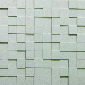 Gạch trang trí Mosaic Đá 3D1-WHITE