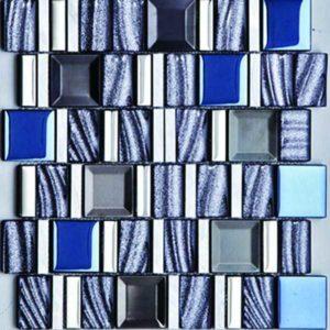 Gạch trang trí Mosaic Kim Loại - Đá - Thủy Tinh GHT902D