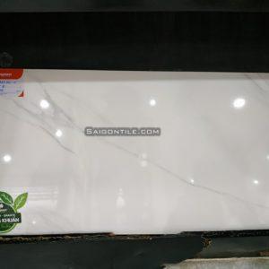 Gạch mài men toàn phần marble trắng 4080CARARAS001-FP-H+ 40x80 Đồng Tâm sang trọng
