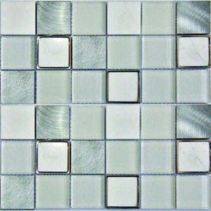 Gạch trang trí Mosaic Kim Loại - Đá - Thủy Tinh GML053S