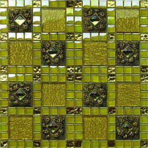 Gạch trang trí Mosaic Kim Loại HEM28