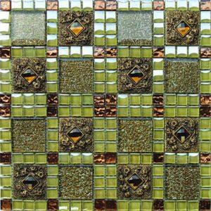 Gạch trang trí Mosaic Kim Loại HEM29