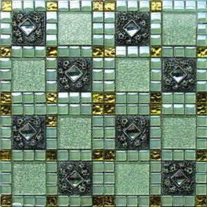 Gạch trang trí Mosaic Kim Loại HEM30