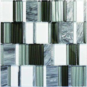Gạch trang trí Mosaic Đá & Thủy Tinh LAS276