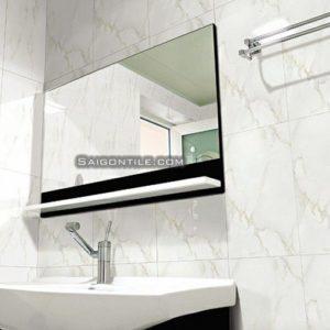 Gạch lát nhà vệ sinh đẹp marble 2525CARARAS001