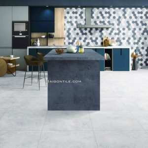 Gạch nhập khẩu vân đá terrazzo 2019 men mờ 60x60 BLA02M cao cấp