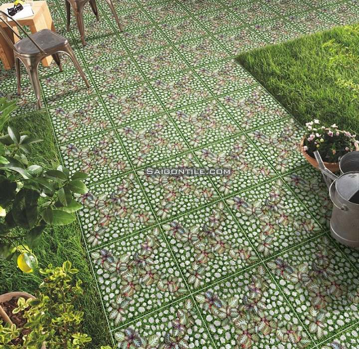 Gạch hoa cỏ 40x40 4040GREENERY004