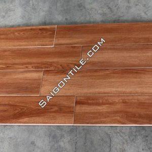 Gạch 15x80 vân gỗ màu cánh gián nhập khẩu Trung Quốc DW158K69