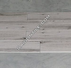 Gạch giả gỗ 150x800 màu trắng granite mờ giá rẻ Trung Quốc DW15861A