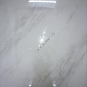 Gạch vân đá marble trắng khổ lớn 1mx1m bóng kính cao cấp DBPH1001