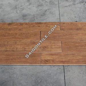 Gạch vân gỗ 150x800 màu cánh gián granite mờ đẹp nhập khẩu DW15832