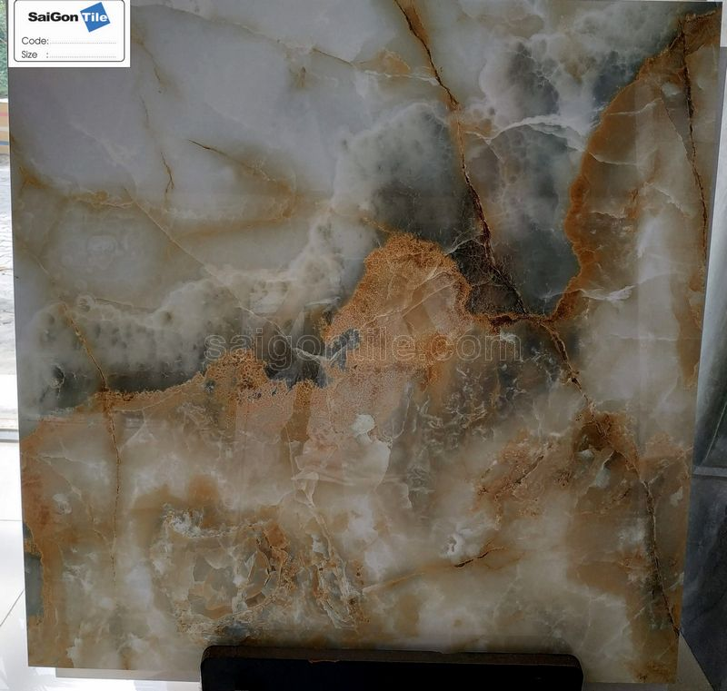 Gạch 5D vân đá onyx đa sắc Trung Quốc DBY8895