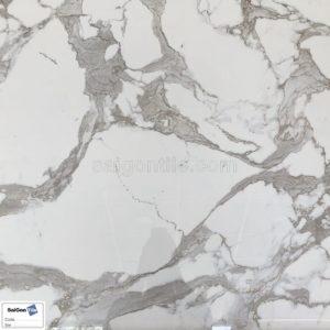 Gạch cao cấp vân đá marble trắng nhũ vàng 80x80 bóng kính DNY8V11