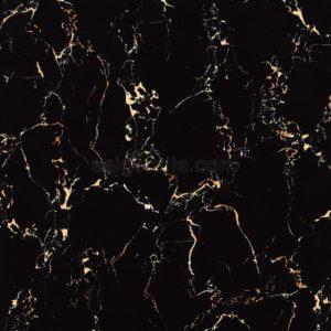 Gạch đá ốp lát đen vân cam 60x60 bóng kiếng Trung Quốc DBY66408