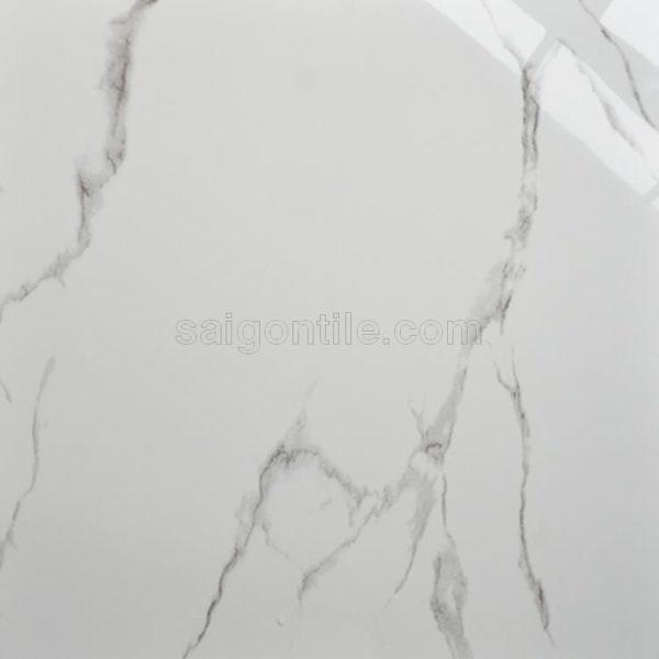 Gạch đẹp giá rẻ trắng vân khói xám 60x60 bóng kính Trung Quốc DBY6610
