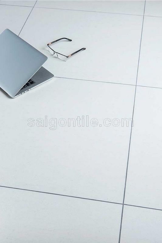 Gạch hiện đại trắng trơn mờ Trung Quốc DMY6000