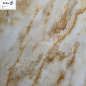 Gạch màu cam vân đá onyx cẩm thạch 3D bóng kiếng 80x80 DY8D644