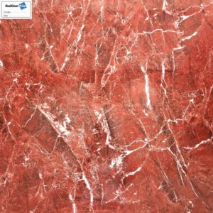 Gạch màu đỏ vân khói trắng bóng kiếng 800x800 Trung Quốc DBY88186