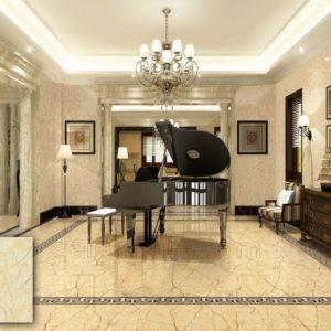 Gạch màu vàng tằm vân đá marble bóng kính 80x80 cao cấp DHY88402