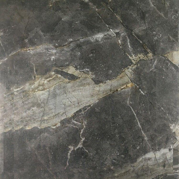 Gạch màu xám đậm vân đá nhập khẩu DBY66812