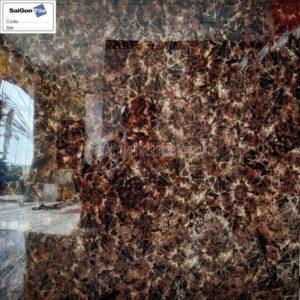 Gạch nâu đậm bóng kính toàn phần vân hoa 80x80 nhập khẩu DBY8835B