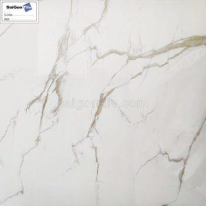 Gạch trắng marble vân nâu bóng kính toàn phần 80x80 nhập khẩu DBY8803