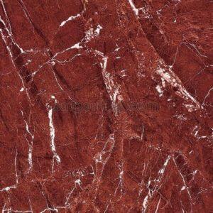 Gạch xương đá đỏ vân trắng 60x60 bóng kính Trung Quốc DBY66186