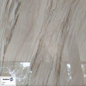Gạch lát nền vân cát nhũ vàng 800x800 bóng kính Trung Quốc DNY8V84