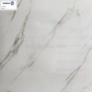 Gạch lót nền vân đá marble trắng 800x800 bóng kính nhập khẩu DBY8807