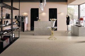 Phối cảnh Gạch lát nền 600x600 Eurotile vân vải cement Đan Vi DAV H04