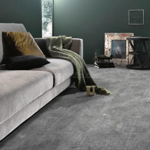 Phối cảnh Gạch lát nền 300x600 Eurotile An Niên vân cement dark grey ANN G04