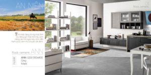 Phối cảnh Gạch lát nền 300x600 Eurotile An Niên vân cement grey matt ANN G02