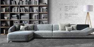 Phối cảnh Gạch lát nền 300x600 Eurotile An Niên vân cement light grey ANN G01
