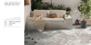 Phối cảnh Gạch lát nền 300x600 Eurotile Hoa Đá hiệu ứng hạt đường HOD G01