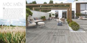 Phối cảnh Gạch vân gỗ Eurotile 15x90 Mộc Miên granite cao cấp MMI M01