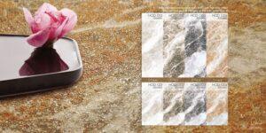Phối cảnh Gạch lát nền 300x900 Eurotile vân Hoa Đá núi lửa cao cấp HOD D04