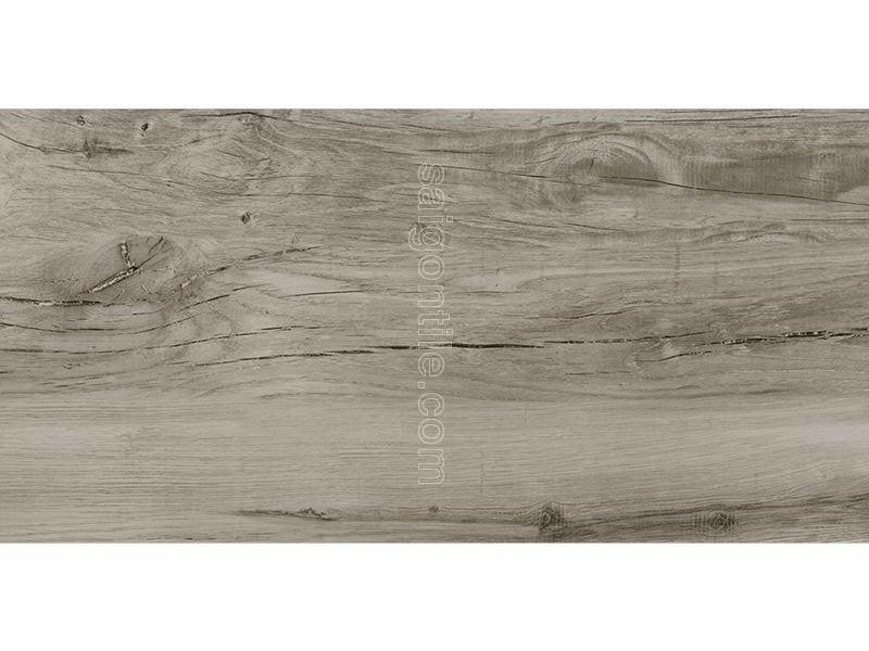 Gạch vân gỗ 45x90 Eurotile Mộc Lan dark grey cao cấp MOL I02