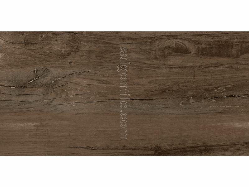 Gạch vân gỗ 45x90 Eurotile Mộc Lan màu nâu socola cao cấp MOL I04