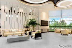 Gạch 6060MOMENT010 Đồng Tâm 600x600 marble xám nhạt
